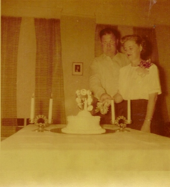 Leo and Me on my first birthday on June 16th 1954. We're in front of